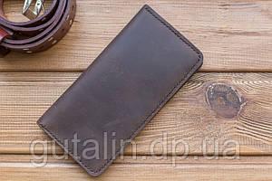 Бумажник ручной работы из натуральной кожи цвет коричневый