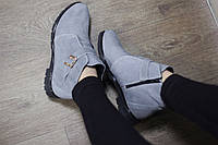 Кожаные/замшевые женские ботинки