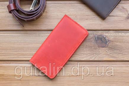 Гаманець ручної роботи з натуральної шкіри колір червоний