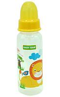 Бутылочка для кормления с силиконовой соской Baby Team №1120, 250 мл