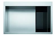 Врезная кухонная мойка с нержавеющей стали- черное стекло Franke Crystal Line CLV 210