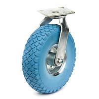 3.50/4.10-4 Колесо пенополиуретановое с поворотным кронштейном, диаметр 260 мм, нагрузка 135 кг