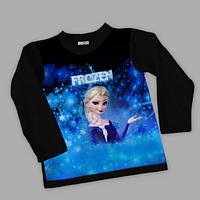 Свитшот для Девочки 3Д Frozen Чёрный Рост 92-122 см