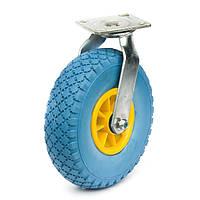 83203004РК Колесо пенополиуретановое с поворотным кронштейном, диаметр 260 мм, нагрузка 125 кг