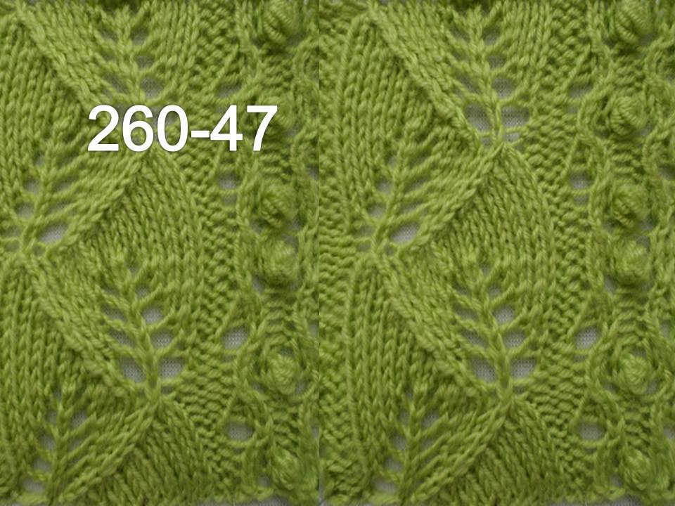 260 47 видео мастер класс вязания спицами узор с листочками узоры