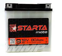 Аккумулятор 12v9a.h. (плоская клема)   STARTA 140x75x140