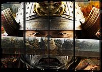 Модульная картина Самурай сегут(маска, доспехи, катана)