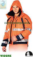 Куртка зимняя рабочая сигнальная Польша (спецодежда сигнальная утепленная мехом рабочая) LH-PROVIFER_J PG
