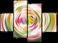 Модульная картина Круги в стиле хай-тек