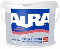 Адгезионная грунтовка с кварцевым песком Aura BETON KONTAKT, 1,4 кг.