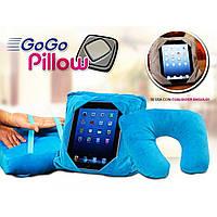 Дорожная подушка Go Go Pillow 3 в 1, подставка и чехол для планшета  , В наличии