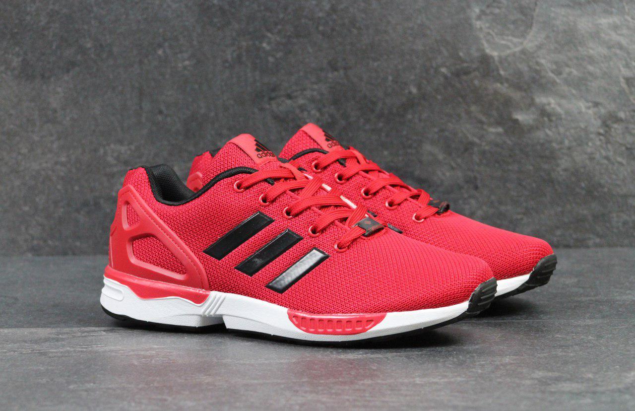 Кроссовки мужские Adidas Flux (красные), ТОП-реплика