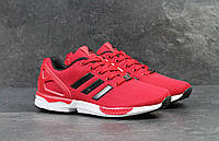Кроссовки мужские Adidas Flux (красные), ТОП-реплика, фото 1
