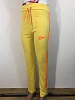 Штаны спортивные женские Sport с лампасами желтый