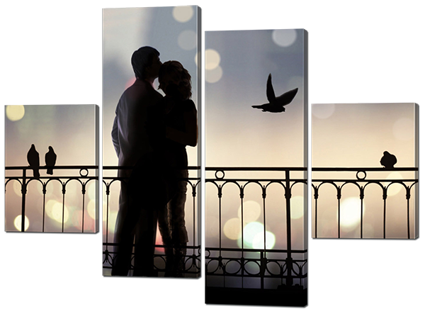 Модульная картина Влюбленная пара
