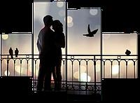 Модульная картина Влюбленная пара 126*93 см