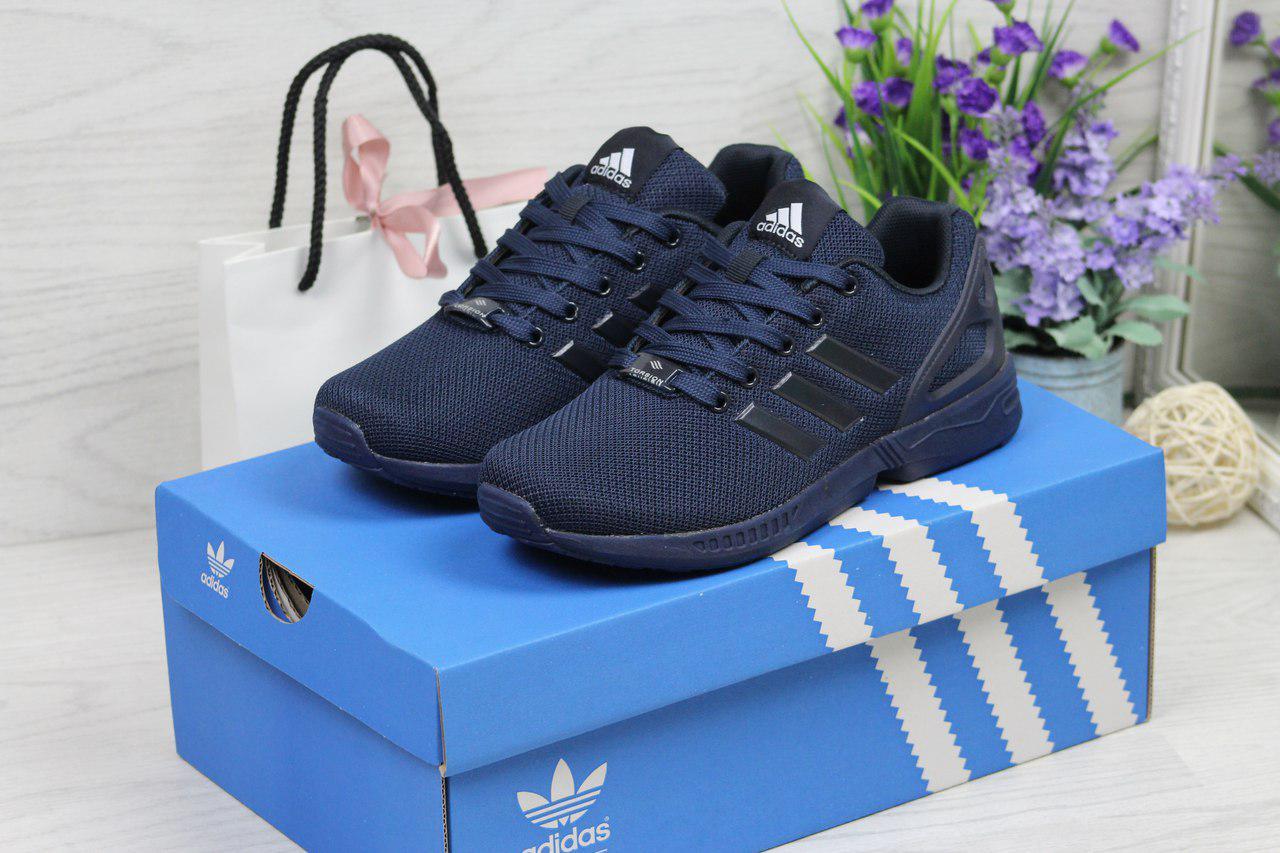 Кроссовки женские Adidas Flux (синие), ТОП-реплика