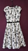 Платье детское Миледи белое подростковое для девочки 134,140,146,152см пояс