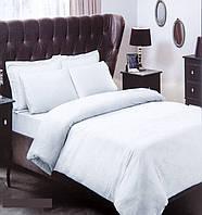 Постельное белье Tac жаккард Colette белое евро размер