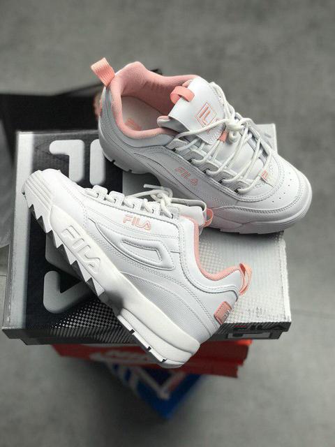 870b23493c2b ... Fila Disruptor II Pink Flamingo   кроссовки женские  кожаные  белые, ...