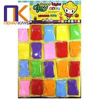 Маса для ліплення Super light clay 7 кольорів 20 штук 9 грамів ClayDoll NT-K01(9)
