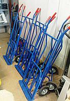 Тележка Е200 ручная двухколёсная c откидной платформой на литых резиновых колесах ø200 мм, г/п 150 кг
