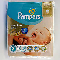 Подгузник Pampers premium care Newborn 2, 3-6 кг 80шт