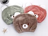"""Полотенце- шапочка для сушки волос """"Мишка"""" детская, фото 6"""