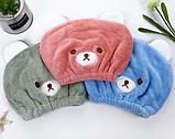 """Полотенце- шапочка для сушки волос """"Мишка"""" детская, фото 5"""