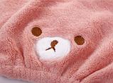 """Полотенце- шапочка для сушки волос """"Мишка"""" детская, фото 2"""