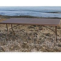 Стол складной большой «TR-18022» коричневый, длина 180 см.