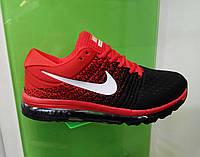 Мужские кроссовки Nike Air Max 2017 черно красный, размеры с 41 по 45