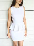Женское трикотажное платье с баской, фото 1