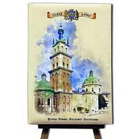 Блокнот со стикерами в твердой обложке «Львів-Церква Пресвятої Богородиці»в комплекте с чехлом