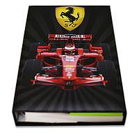 Блокнот со стикерами Post-it, в твердой обложке«Ferrari Formula 1»в комплекте с чехлом