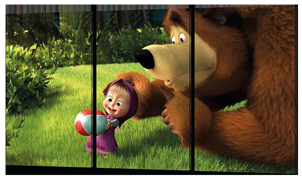 Модульная картина Маша и медведь(детская тематика)