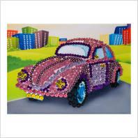 """Мозаїка з паєтками """"Веселі пінсіки"""" Набір для дитячої творчості """"Автомобіль"""""""