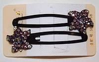 Заколки для волос тик-так, звезда, трехцветные, зажимы(2 шт) 19_5_1a15