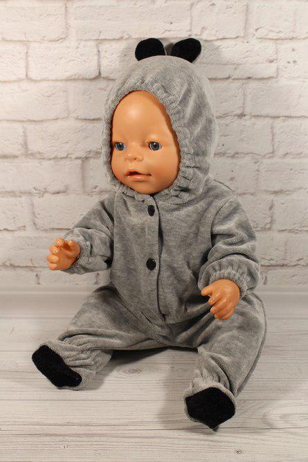 Комбинезон чёрные ушки для куклы Baby Born