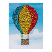 """Мозаїка з паєтками """"Веселі пінсіки"""" Набір для дитячої творчості """"Повітряна куля"""""""
