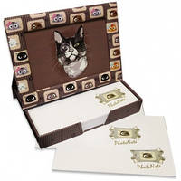 Фоторамка - диспенсер 9х13см FrameNote, с блоком бумаги для заметок «Кот с моноклем»