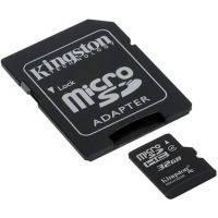 Карта пам'яті Kingston microSDHC 32GB 4class +SD AD
