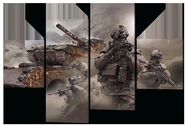 Модульная картина Военная тематика