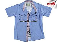 Рубашка + футболка для мальчика 6 лет