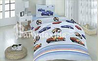 Детское полуторное постельное белье Порше