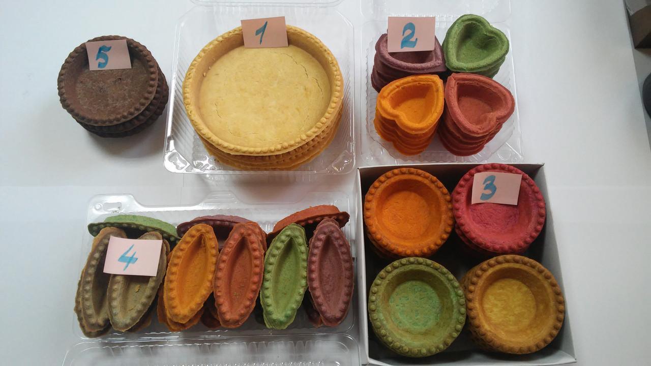 Тарталетки разноцветные