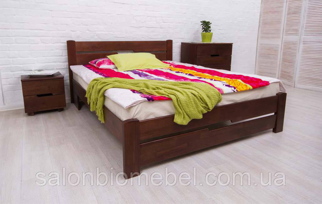 Кровать односпальная Айрис бук 0,9м с изножьем