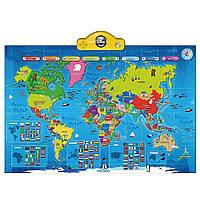 Детская интерактивная карта мира (на английском языке), ТМ Think Gizmos Великобритания, фото 1