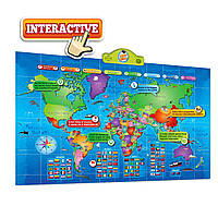 Детская интерактивная карта мира (англ.)