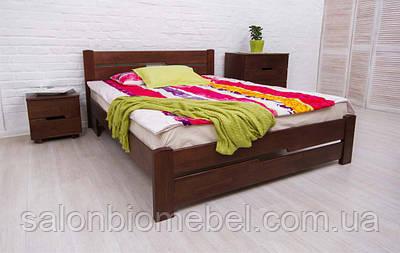 Кровать двухспальная Айрис бук 1,8м с изножьем